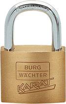 Messing-Zylinderschloss 217 Schloss-Breite 30/40/50mm Messing BURG-WÄCHTER