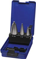 Blechschälbohrersatz 3-14 / 4-20 / 16-30,5 mm HSS-Co 3 teilig Kunststoffkassette PROMAT