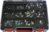 Schlauchschellensortiment 175x 2-Ohr-Klemme 82 Schlauchschellen RIEGLER