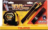 Cuttermesser-Set CONVEX Bandmaß, Cutter u. Ersatzklingen TAJIMA