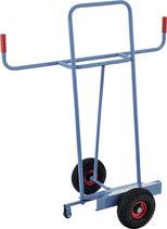 Plattenkarren Tragfähigkeit 350 kg Höhe 1440 mm Aufl.-L500xB200mm Bereifung Luft PROMAT