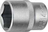 Steckschlüsseleinsatz 1/4 Zoll 6-kant ( Nuss )SW 5-13mm Länge 25mm PROMAT