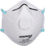 Atemschutzmaske EN 149:2001 + A1:2009 FFP 2 NR D mit Ausatemventil 15ST/Box ASATEX