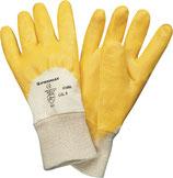 Handschuhe Lippe Größe 7-10 gelb Nitrilbeschichtung EN 388 PSA-Kategorie II PROMAT