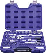 Steckschlüsselsatz 55-teilig 1/4 + 1/2 Zoll Schlüsselweiten 4-32mm PROMAT