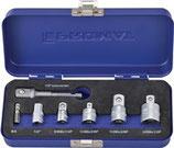 Adaptersatz 7-teilig 1/4 - 1/2 Zoll inkl. Maschinenadapter PROMAT