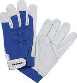 Handschuhe Donau Größe 8-11 natur/blau EN 388 PSA-Kategorie II PROMAT