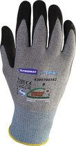 Handschuhe Flex Größe 8-11, ohne Noppen o. mit Noppen grau/schwarz EN 388 PSA-Kategorie II PROMAT