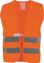 Warnweste Größe universal orange o. gelb EN 20471 Kl. 2 ASATEX