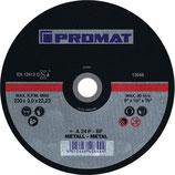 Trennscheibe D125x2,5mm / 230x3,0mm gekröpft/gerade Stahl PROMAT
