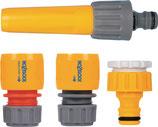 Starterset Schlauchkupplungen PVC 1/2 Zoll 12,5 + 15 mm HOZELOCK