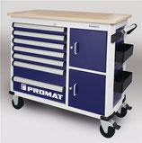 Rollwerkbank PLUS Außen-B1150xT500xH1015mm Schubladenanzahl 7 30 kg 500 kg PROMAT