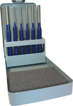 Splintentreibersatz 6-tlg. 3-4-5-6-8-10mm Metallkassette PROMAT