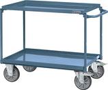 Tischwagen Schiebebügel waagerecht 2 Stahlblechwannen L850xB500mm PROMAT