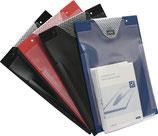 Auftragstasche mit Klettverschluss und Kordel DIN A4 blau/rot/schwarz EICHNER