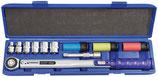 Drehmomentschlüsselset 12-teilig 40 - 200 Nm 1/2 Zoll 9 Einsätze/Verlängerung PROMAT