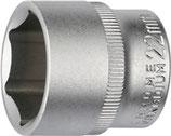 Steckschlüsseleinsatz 3/8 Zoll 6-kant ( Nuss )SW 6-24mm Länge 30mm PROMAT