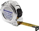 Taschenrollbandmaß Länge 3-8m Breite 16-25mm EG II Kunststoff Chrom PROMAT