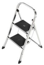 Klapptritt Stufen einschl. Plattform 2 Plattformhöhe 470mm Aluminium mit Stahl-Stufen HAILO