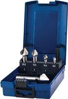 Kegelsenkersatz DIN 335 C 90 Grad 6,3-25 mm HSS 5-teilig Kunststoffkassette PROMAT