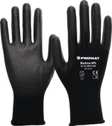 Handschuhe Blackstar NPU Größe 6-10 (S-XXL) schwarz EN 388 PSA-Kategorie II PROMAT