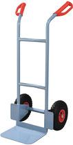 Stabelkarre Höhe 1150 mm Schaufel-L250xB320mm Luft-Bereifung Tragfähigkeit 200kg PROMAT