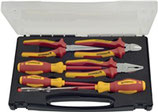 VDE Zangen-/Werkzeugsatz 7-teilig Mehrkomponentenhüllen VDE PROMAT