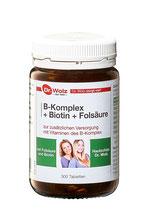 Dr. Wolz® B-Komplex/Biotin/Folsäure Hefetabletten 300 Tabl.