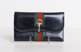 Dark Navy Gucci Checkbook Wallet