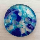 Großer Glasknopf BLUE