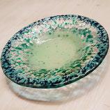 FLACHE BOWL mitternachtsblau, wasserblau, klar, smaragd, mint