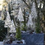 Tannenbaum NORDIC, weiß, langer Stamm