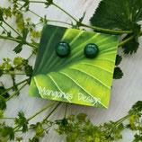 Ohrstecker ELISA medium, grün-klar