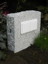 Granit grau, doppelt, Block
