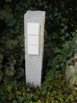 Granit grau gestockt, dreifach, 80 cm