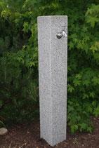 Wasserzapfsäule Granit grau - geflammt - XL