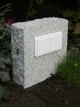 Granite block with double socket