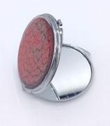 Miroir de poche rouge et gris