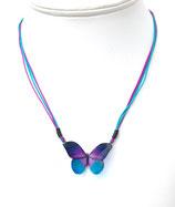 Pendentif papillon 3d violet bleu
