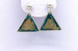 Boucles d'oreilles effet vitrail turquoise