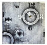 Horloge tons noir et blanc