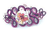 Barrette fil aluminium violet et rose