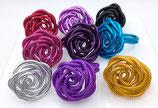 """Bague """"rose"""" fil aluminium réglable"""