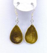 Boucles d'oreilles effet vitrail vert