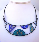 "Collier ""eclipse"" ton bleu"
