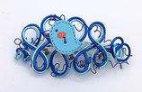 "Barrette fil aluminium ""blue-bird"""