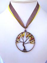 Pendentif arbre de vie marron