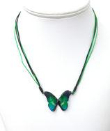 Pendentif papillon 3d vert bleu