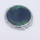 Miroir de poche vert et bleu