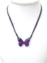 Pendentif papillon 3d violet